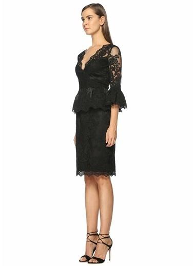 Marchesa Couture Etek Siyah